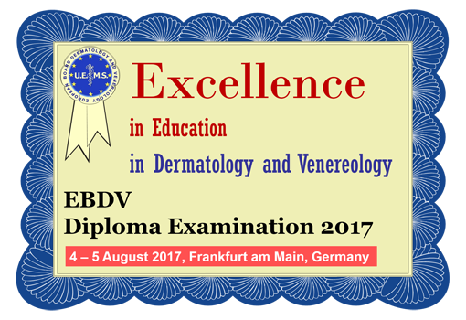 EBDV examination 2017 picture with date 2